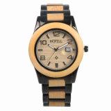 Custom мужчин размер Quartz запястья смотреть деревянные с легкосплавными Wristwatch часы для мужчины