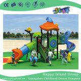 屋外の子供の円柱スライド(HG-9301)が付いている野菜屋根の運動場装置