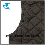 Anel de suporte das mulheres Quilted Leve Colete Zip