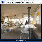 Hete Stevige Oppervlakte 4 van de Verkoop Mensen om Eettafel voor Huis en Restaurant