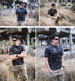 L'armée extérieure de Camo de Rond-Collet de chemise multifonctionnelle de circuit évente les T-shirts des hommes