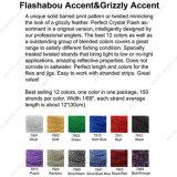 Het meeste Populair Bindend Materiaal van de Vlieg van 12 Kleuren van het Accent Comobo van Flashabou Accent&Grizzly