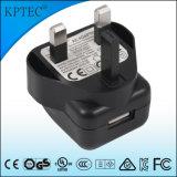 이동 전화를 위한 5V 1A를 가진 USB 3pin 플러그 충전기