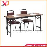 Table de réunion de l'école en bois bon marché pour l'église/conference/bureau