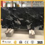 Nuevo natural / piedra de granito negro, Nero Fantasy losas de granito del suelo y encimera de cocina