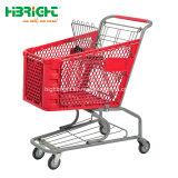 Segurança e supermercado Carrinho Carrinho de plástico resistente