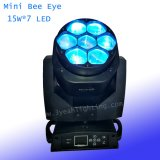 LED 이동하는 맨 위 꿀벌 눈 광속 빛 급상승 세척 7X15W