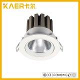 Proyector ligero ahuecado de la luz LED de la llanura ligera de techo 18W del dispositivo de iluminación LED abajo