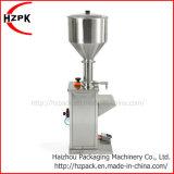 Máquina de rellenar líquida de la botella de agua de la goma neumática vertical del llenador