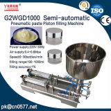Máquina de enchimento dobro pneumática da pasta das cabeças para a lavagem de Mildy (G2WGD500)