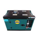 Generatore raffreddato ad aria del generatore diesel silenzioso di monofase 6kVA 7kVA di CA