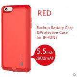 Stromversorgungsanlage-Bank-Fall-Aufladeeinheits-backupbatterie-Kasten für das iPhone 6 Plus