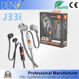 Fone de ouvido estereofónico de Jbl J33I dos auscultadores da em-Orelha 3.5mm dos auriculares com Mic
