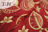 2016 100% Polyester-rotes Tuch-Gold lässt Chenille-Jacquardwebstuhl-Sofa-Tuch