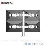 Quad Venta caliente verticalmente el soporte para monitor LCD ajustable (OZ-OMM055)