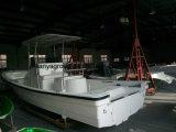 Barco profundo da fibra de vidro da casca do barco de pesca V de Liya 760
