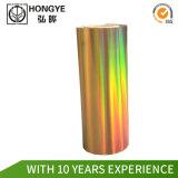 Tamanho personalizado de película holográfica arco-íris na etiqueta