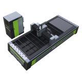 Traitement métallique de feuille de haute énergie de la machine de découpage de laser de fibre avec le déplacement de double standard