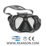 Masque chaud de plongée de type avec le support d'appareil-photo