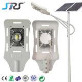 30W 60W imperméabilisent le réverbère actionné solaire d'IP67 DEL