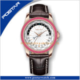 Gmt Hora Mundial el alto grado de Acero Inoxidable Relojes para hombres de negocios