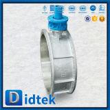Фланец вращающего момента Didtek низкий кончает клапан-бабочку с шестерней глиста