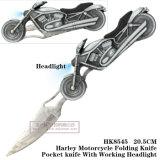 Punho tático de dobramento ao ar livre 21cm da motocicleta da faca da sobrevivência das facas de caça da faca
