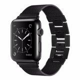 De zwarte Milanese Riem van het Horloge van het Roestvrij staal van de Lijn voor het Horloge van de Appel