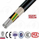 cabo subterrâneo Nayy da bainha de alumínio do PVC da isolação do PVC 0.6/1kv