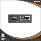 Автономный 1X 10/100/1000Base-T RJ45 к 1X 1000Base-X SFP, конвертеру средств локальных сетей гигабита