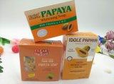 Organische Papaya-Seifen-Haut, welche die Kojicsäure weiß wird Bad-Toiletten-Seife erleichtert