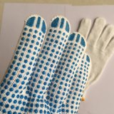 Puntos de PVC guante de trabajo de algodón