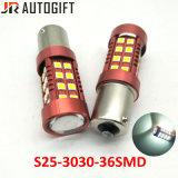 Car-Styling S25 T20 Ba15s P21W 3030 36 LED SMD lâmpadas LED do Sinal de Mudança Automática