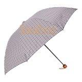 折るカスタム格子3フォールドの丈夫な傘