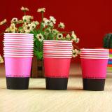 Taza de papel de consumición 3oz del color puro cómodo de Eco del precio bajo