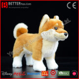 Brinquedo macio do cão japonês Lifelike do luxuoso de Shiba Inu do animal enchido