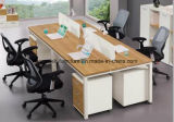 Büro-Computer-Tabelle 4 Seaters Büro-Arbeitsplatz-linearer Büro-Schreibtisch