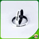 Doppelschicht-Silikon-GummiWristband mit kundenspezifischem Firmenzeichen