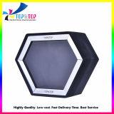 Carton noir fait bougie boîte cadeau avec fenêtre PVC