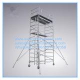 Coffre-fort ce passé d'échafaudage en aluminium double largeur pour la décoration