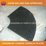 Carburo del cromo que reviste en duro la placa del desgaste para la tolva que introduce