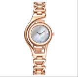여자 수정같은 다이아몬드 상단 상표 여자 시계를 위한 팔찌 금시계