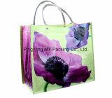 Sac à provisions en plastique de transporteur de traitement, sac de client tissé par pp de don