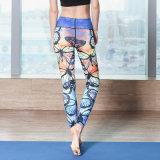 La yoga apretada del deporte de las polainas de la aptitud de la sublimación de encargo de la alta calidad jadea a mujeres