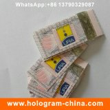 Волокна печати клей голограмма горячей штамповки наклейку
