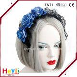 Acessórios góticos do cabelo de Halloween do casamento do laço de Lolita Rosa das mulheres azuis consideravelmente formais elegantes