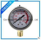 耐震性の圧力計/Vibration-Proofオイルの詰物の圧力計