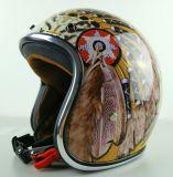 Lo nuevo Half-motocicleta de la cara / casco de la bici con el brillo de Shell de China, de alta calidad precio barato