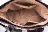 Retro sacchetto della tela di canapa con la borsa della tela di canapa di corsa del cuoio dell'unità di elaborazione