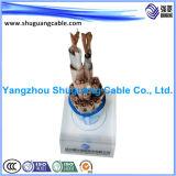 VV22p 1 Core isolés en PVC et bandes en acier gainé bouclier blindé Câble d'alimentation